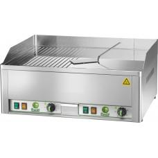 Grill fry top electric dublu suprafata neteda si striata