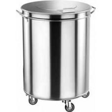 Container pentru deseuri cilindric pe roti de 100 lt.