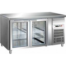 Masa frigorifica cu 2 usi de sticla 1360x700mm