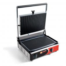 Contact grill simplu cu placi striate
